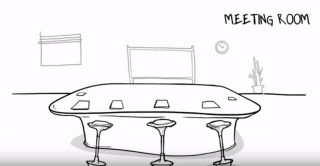 Wobble Stool 搖擺凳 in meeting room